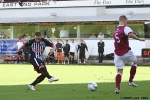 Pars v Arbroath 17th August 2013. Ryan Wallace. v Michael Travis,.