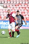 Pars v Arbroath 17th August 2013. Callum Morris v Steven Milne.