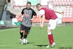 Pars v Arbroath 17th August 2013. Ryan Wallace v Johnny Lindsay.