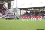 Pars v Ayr United 22nd February 2014. Minutes silence for Joe Nelson.