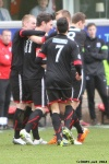 Pars v Ayr United 22nd February 2014. Ross Forbes celebrates his goal!