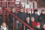Pars v Ayr United 22nd February 2014. Bert Paton and Bert Allan taking in the game.