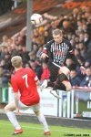 Pars v Ayr United 22nd February 2014. Andy Geggan v Robbie Crawford.