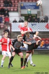 Pars v Ayr United 22nd February 2014. Danny Grainger v Kevin Kyle.