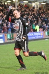 Pars v Ayr United 22nd February 2014. Lawrence Shankland laps up the applause!