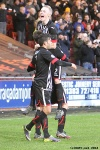 Pars v Ayr United 22nd February 2014. Pars celebrate the third goal!