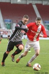 Pars v Ayr United 22nd February 2014. Ryan Wallace in action.