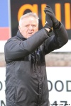 Pars v Ayr United 22nd February 2014. Jim Jeffries applauding the support.
