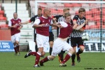 Pars v Arbroath 17th August 2013. Jordan Moore in action.