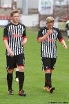 Pars v Arbroath 17th August 2013. Substitutes Jordan Moore and Ryan Ferguson.