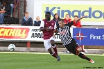 Pars v Arbroath 17th August 2013. Ryan Wallace. v David Banjo.
