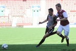 Pars v Arbroath 17th August 2013. Shaun Byrne v Colin Hamilton.
